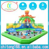 Giant Inflatable Water Slide Equipping The Inflatable Pool For Sale                                                                         Quality Choice