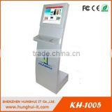 19 inch Standalone Standard Kiosk With Keyboard / Interactive Kiosk / Slim Touch Screen Kiosk