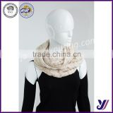 wholesale Fashion acrylic knitted loop scarf neck warmer infinity knit pashmina scarf factory sales (accept the design draft)