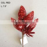 "2014 Popular Artificial Christmas Red Flower Pick 7.5"" Artificial Fruit Flower With Berries"