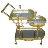 2014 beauty and glass serving trolley for hotel CC523