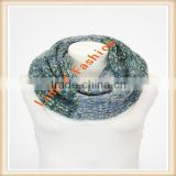 2015 Cute Fashion Colorful Cotton Winter young girl scarf knit chevron infinity scarf wholesale
