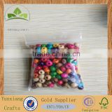 4mm Round Wooden Beads Mixed Colours