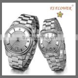 FS FLOWER - Classic Type Couple Watch Sapphire Crystal Watch Glass