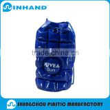 Promotional Factory Logo Eco-friendly Blue PVC Inflatable Bags/inflatable sleeping bag/inflatable bean bag chair