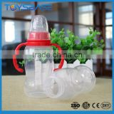 New born baby accessories plastic drinking water bottle with handle