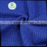 100% polyester slub knit brushed jersey fabric for trousers