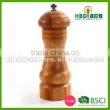 Bamboo spice and pepper grinder