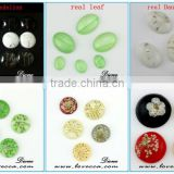 2015 unique DIY jewelry pressed flower pendant ,real pressed flower pendant,resin pressed flower cabochons