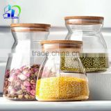 Tea coffee storage glass jar grain glass bottles 50ml 100ml 200ml