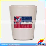 Simple ceramic flag design country shot glasses for beer mug