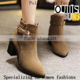 2016 The latest winter women shoes pointed toe rough heel ankle boots martin boots PC4405