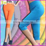 2014 Spring Summer High Waist Leggings For Women Candy Color Pants Capris Cotton Elastic Sexy Ladies Leggings