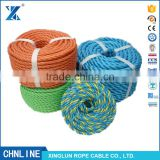 Hot sale colorful 3 strand twist Polypropylene Monofilament Fishing Rope