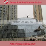 roof for glass dome in construction
