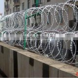 galvanized ,PVC coated ,plastic sprayed Surface Treatment and Cross Razor Razor Type Barbed Wire/razor wire(factory )