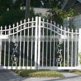 aluminum/ Top-selling modern hand forged iron driveway gates