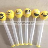 light up stick funny emoji ball toy/kids massage stick