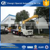 4x2 Slide bed 5 tons Flatbed Wrecker Towing truck with Platform flat bed wrecker with crane