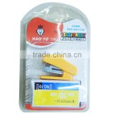5160830-60 mini stapler set lovely plastic mini stapler set