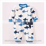 Wholesale cotton plain baby romper,baby animal print rompers,long sleeves long leg baby romper