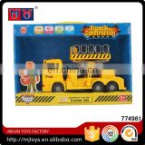 Meijin series Frictional car engineering truck toys with lignt and music for sale