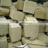 Cream yellow sandstone blocks