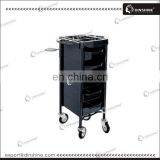 Hair salon plastic durable storage drawer trolley with hair dry holer