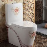 ​ Bathroom High Quality Red One Piece Water Closet Toilet