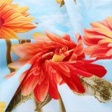 100% Cotton Fabric Whith Flower Printed