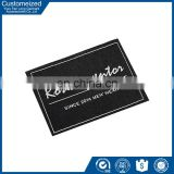 Custom brand name clothing labels with low moq