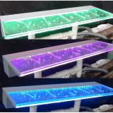 Acrylic pool waterfall fountain cadcade spillway with led light