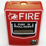 conventional manual call point pull down plate button emergency fire button with key