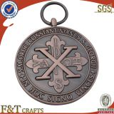 custom memorialized small honor custom religious metal coin medal with lanyard