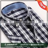 Hot sales 2015 high quality men shirt short sleeve/plaids men shirt for summer/clothing for summer with manufacture price