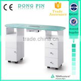 professional nail table used manicure table glass top manicure table with dust collector                                                                         Quality Choice