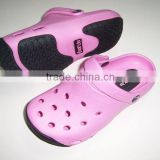 2013 fancy kid girl men eva foot massage plastic disposable anti-slip water shoes indoor double color clog from jinjiang