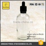 4oz clear glass bottles with dropper pipette with child&tamper safety cap wholesales