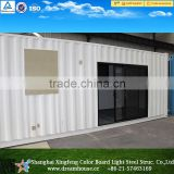 Economy light steel frame building prefab house/moblie container house/container office 40ft