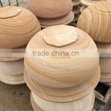 high quality 100% natural wooden yellow sandstone