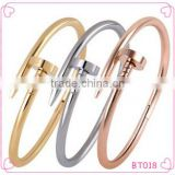 Wholesale latest design high quality chain simple cool stainless steel bracelet for women