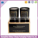 Custom colour papar printed luxury decorative scented candle packaging boxes/round candle box