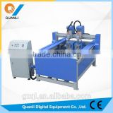 Protable QL-1118 cnc Multi-functional 2 head engraving machine with XYZ Axis cube 3d engraving price