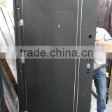 russia door professional manufacturers russia cheap steel security door with black powder coated color