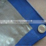 blue and silver lamination material& water proof plastic sheet&waterproof woven fabric tarpaulin