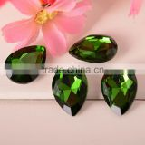 Bling Bling drop crystals, droplet crystal beads, droplet glass stone for garment accessories