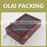 High-end PVC Window Wood Tea Bag Boxes