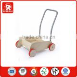 kids education toy stroller mini wooden baby walker outdoor sport rolling wholesale ride on rubber wheel baby walker with wheels