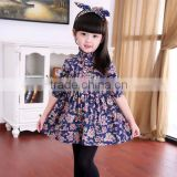 Wholesale China Style Girl printed Dress Sweet Child Casual Dress