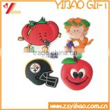 Promotional 2d/3d soft pvc fridge magnet, custom mini fridge magnet,